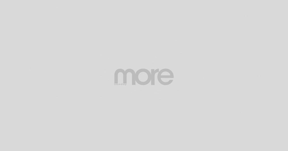 麥美恩劇中以豹紋蕾絲裙造型出場,更要濕身,非常性感!(圖片來源 :TVB)