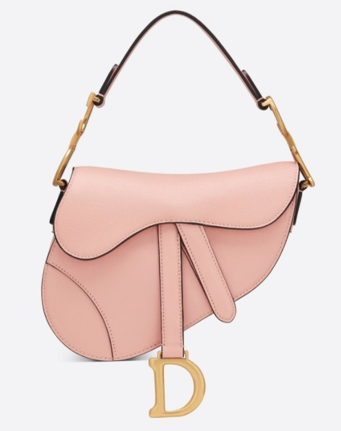 裸粉色手袋推薦:DIOR Mini Saddle Bag(圖片來源:DIOR官網)