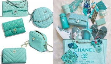 無法抗拒的色調!2019 Chanel 春夏Tiffany Blue手袋系列