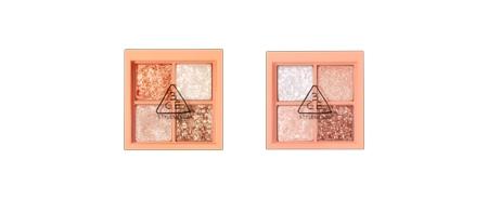MINI MULTI EYE COLOR PALETTE (GLITTER) $ 219 全閃粉眼影共有兩色,一盒包括了細緻低調的珠光眼影與明亮閃爍的亮片眼影。塗抹少量,已能令眼妝看起來生動明亮,耀眼全場。