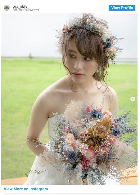 新娘髮型,日本,森系,捧花