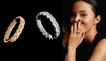 Chanel Coco Crush新款戒指 入門版黃金菱格紋戒指 $9,900