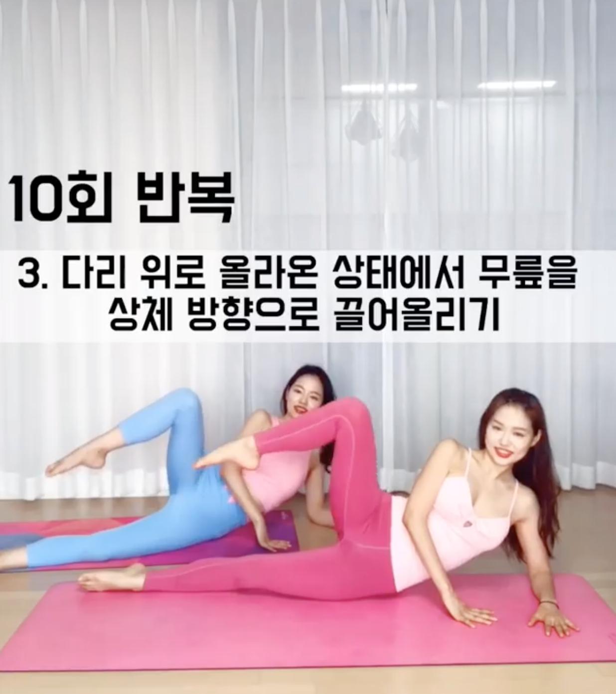 瘦下盤居家運動,屁股,大腿,盆骨,假跨寬,肌肉,腹肌,韓國