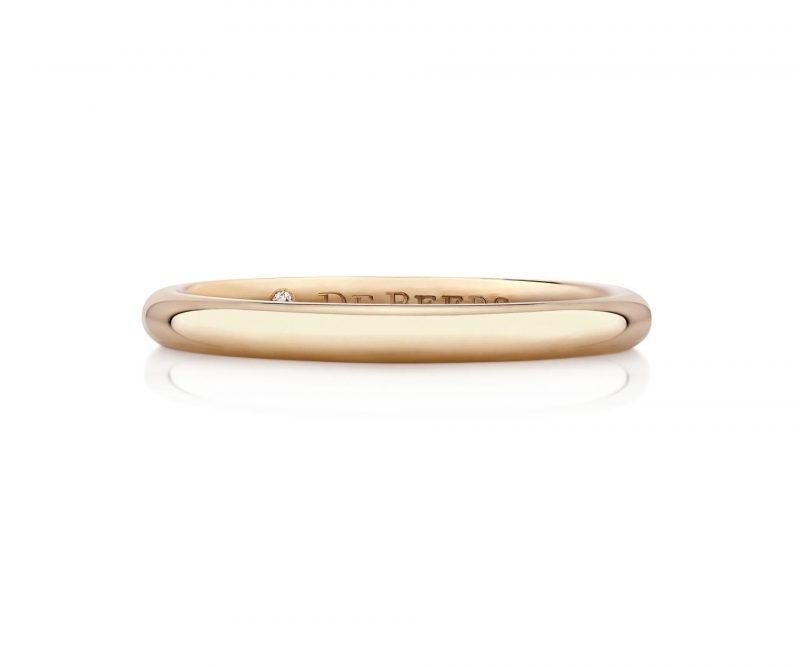 名牌線戒推介:DB CLASSIC ROSE GOLD BAND HKD5,000