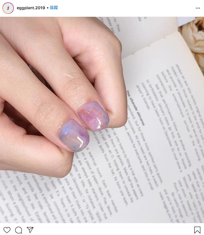 水晶紫美甲,顯白百搭,2020推介