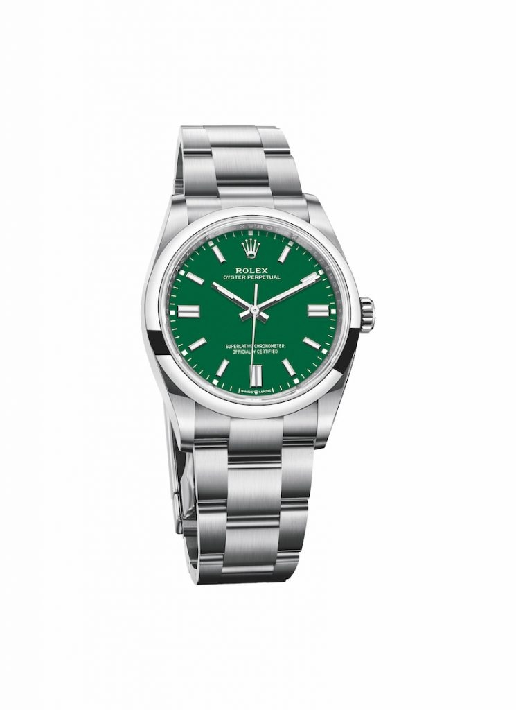 Oyster Perpetual 36 – 綠色 HKD,400