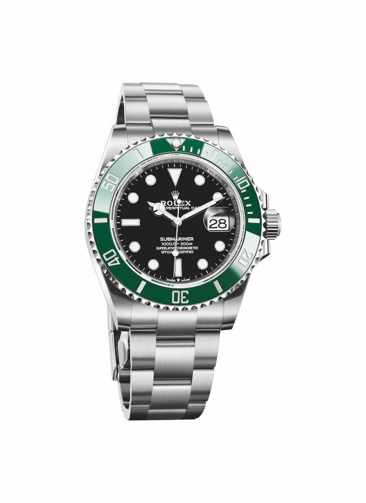 Oyster Perpetual Submariner Date -黑色錶面及綠色字圈