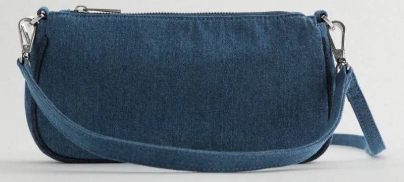 ZARA返工手袋推薦:DENIM SHOULDER BAG
