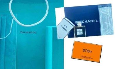 Hermès 、Tiffany、Chanel No.5 名牌香水口罩 超高貴被女神香味包圍【附購買連結】