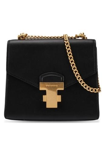 - 皮革鍊條迷你袋連黃銅細節 - 小牛皮 - 按扣設計 - 卡片夾層 - 有內襯 - 尺寸: L17cm x H14.8cm x W5.5cm