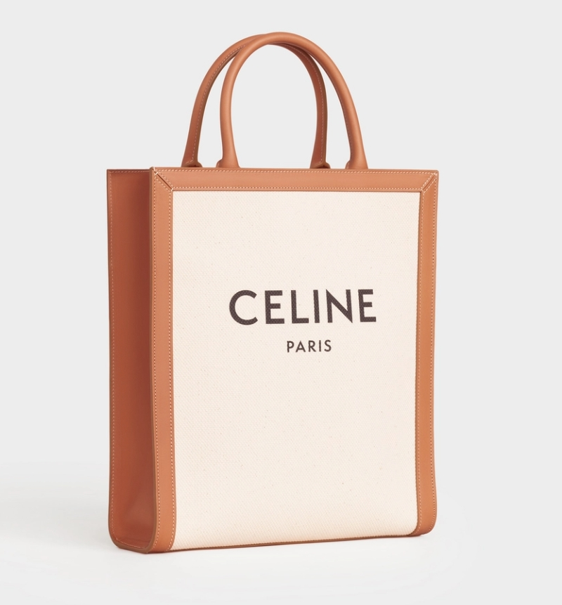 CÉLINE SMALL VERTICAL CABAS IN TRIOMPHE CANVAS