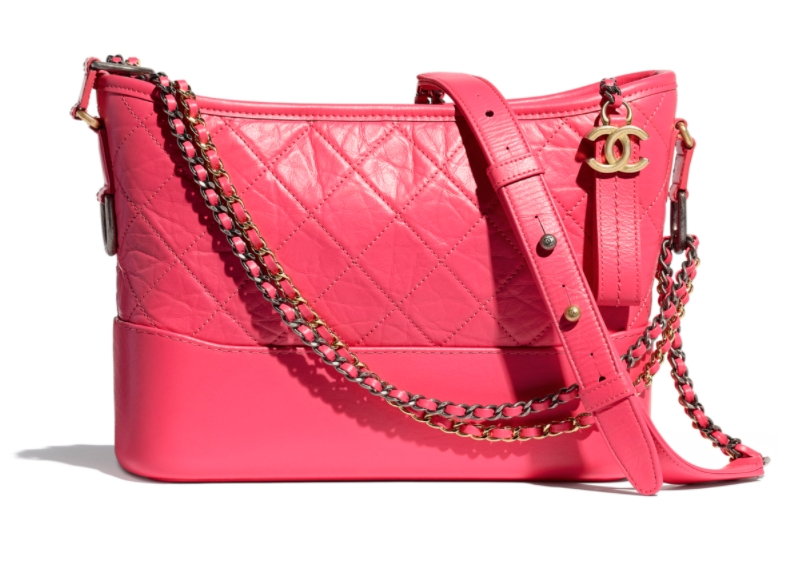 Aged Calfskin Pink Chanel's gabrielle small hobo bag HK,800