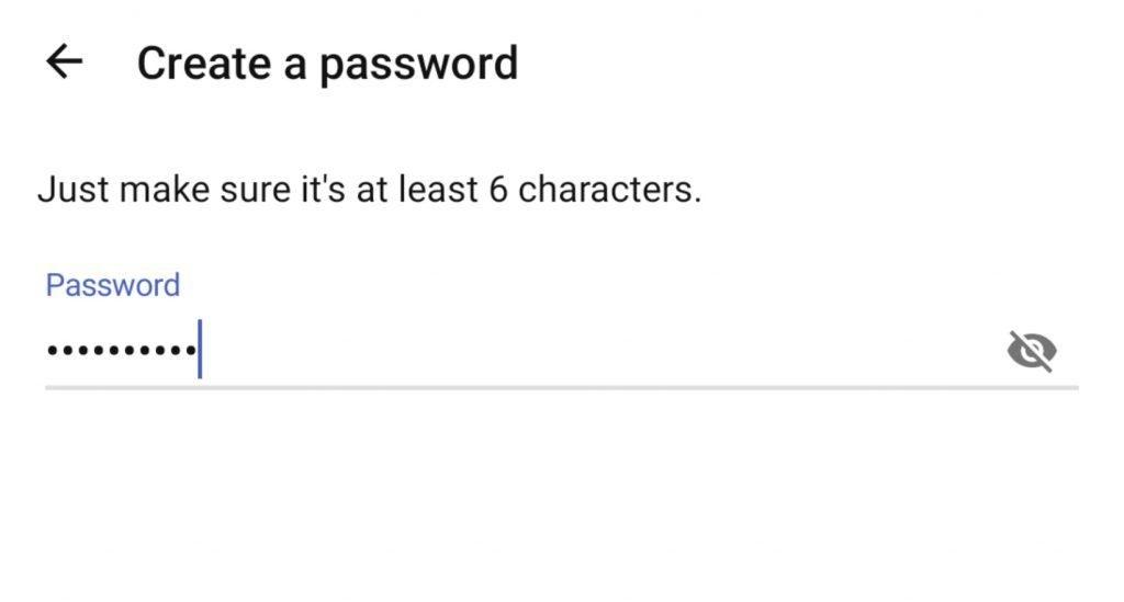 填寫密碼。(圖片來源:MeWe截圖)