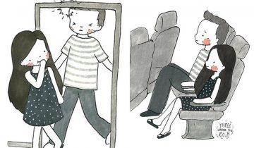 矮小女生大平反 好處多!18張嬌小女生優勢插圖:不怕撞頭、頭髮顯長…