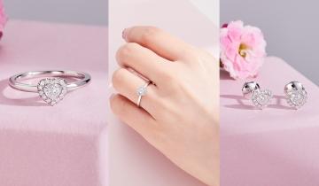 情人節禮物 De Beers全新心形鑽石入門珠寶、永恆愛情吊墜