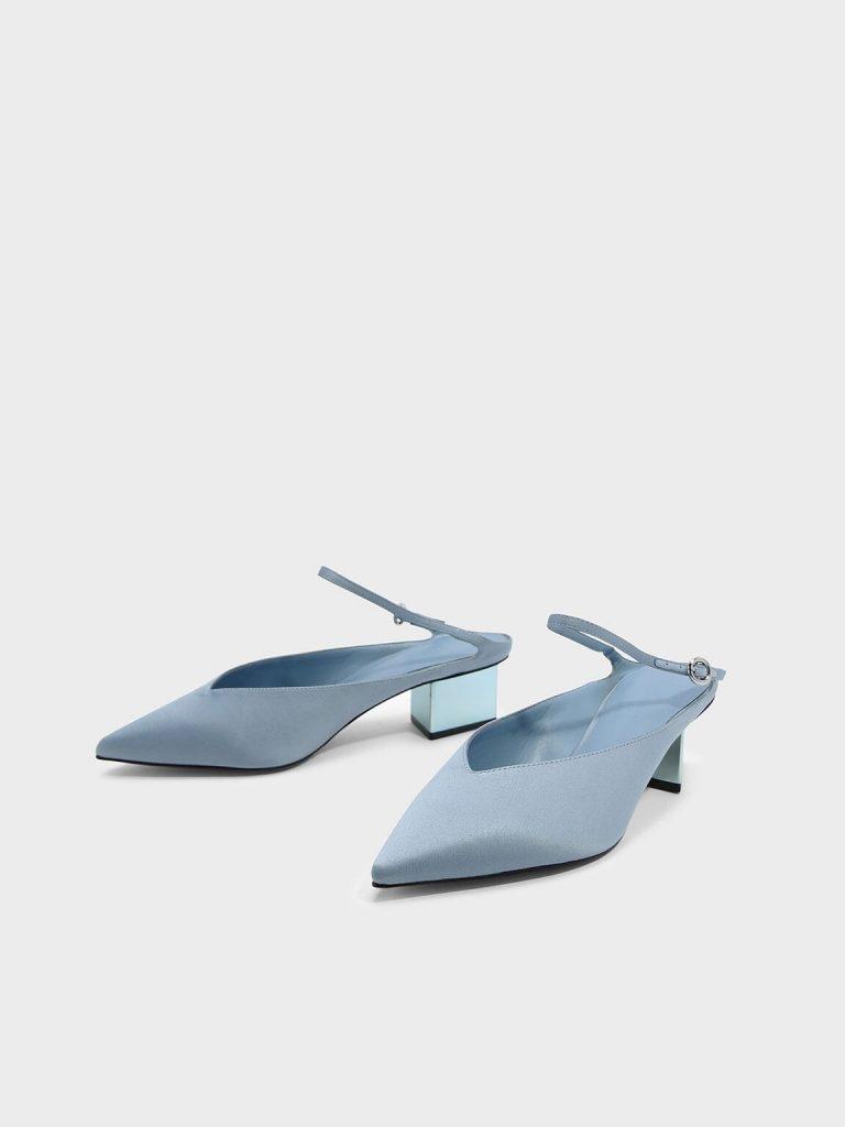 金屬跟尖頭鞋9。(圖片來源:Charles & Keith官網)