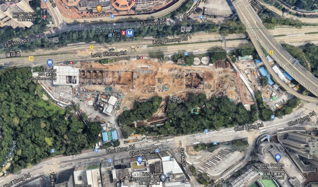 正在施工中(圖片來源:Google Map)