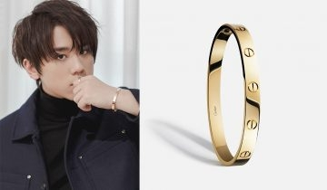 Cartier Love系列珠寶 見證姜濤與「她」浪漫之約
