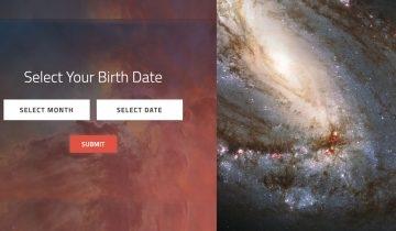 NASA推出「生日宇宙照」:輸入生日日期即找出你的專屬星空影像