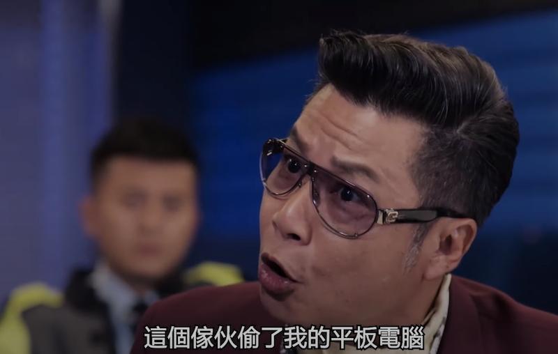 鄭子誠在《伙記辦大事》中再次飾演起奸角—霍晉成。