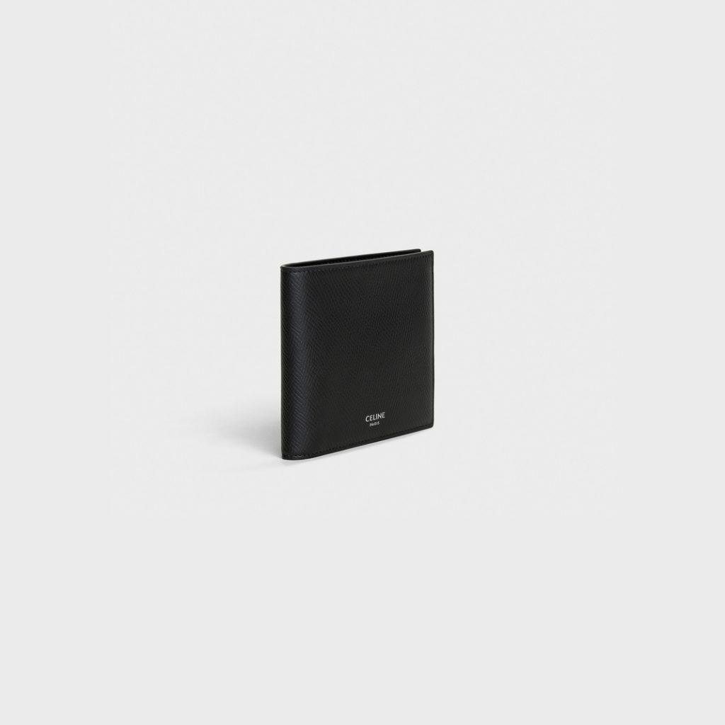 黑色名牌銀包推薦13. BI-Fold Wallet in Grained Calfskin HK,400 圖片來源:Celine官網