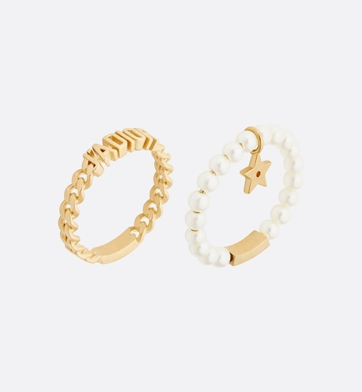名牌戒指推薦2021 12. J'ADIOR 2 件套裝戒指 HK,000 圖片來源:Dior官網