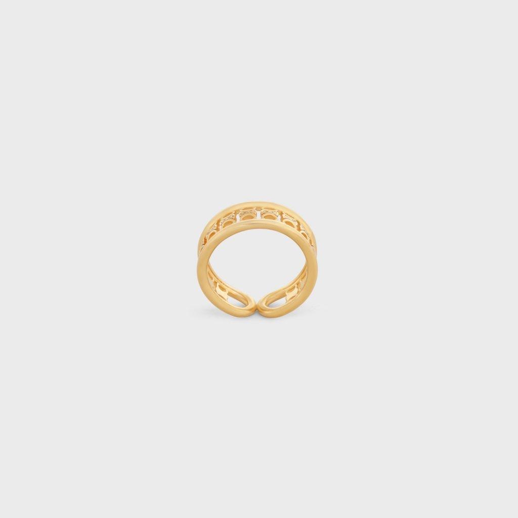 名牌戒指推薦2021 14. MAILLON TRIOMPHE MULTI RING IN BRASS WITH GOLD FINISH HK,750 圖片來源:Celine官網
