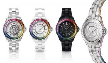 Chanel 新推Electro限定腕錶系列 彩虹藍寶石J12