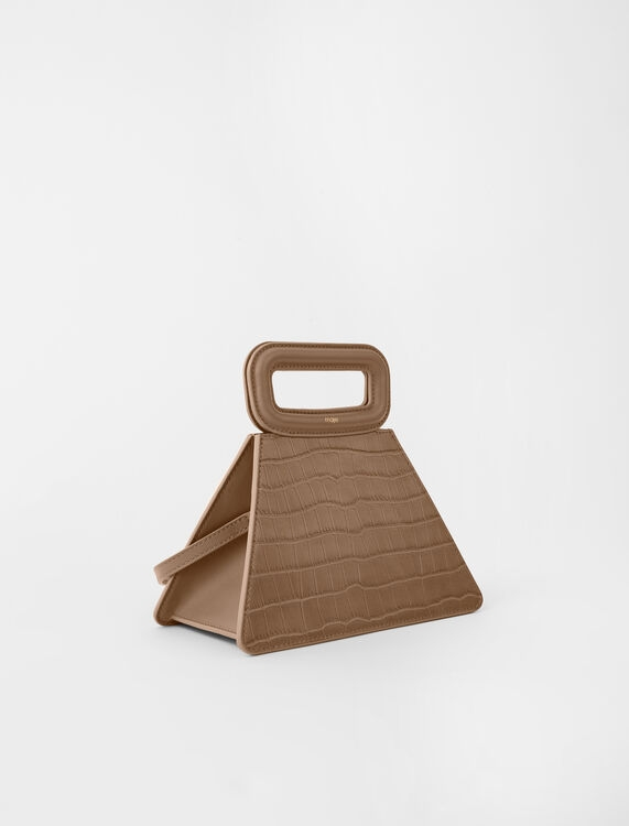 Maje Pyramid Bag with Embossed Leather Handle Mole(圖片來源:官網)