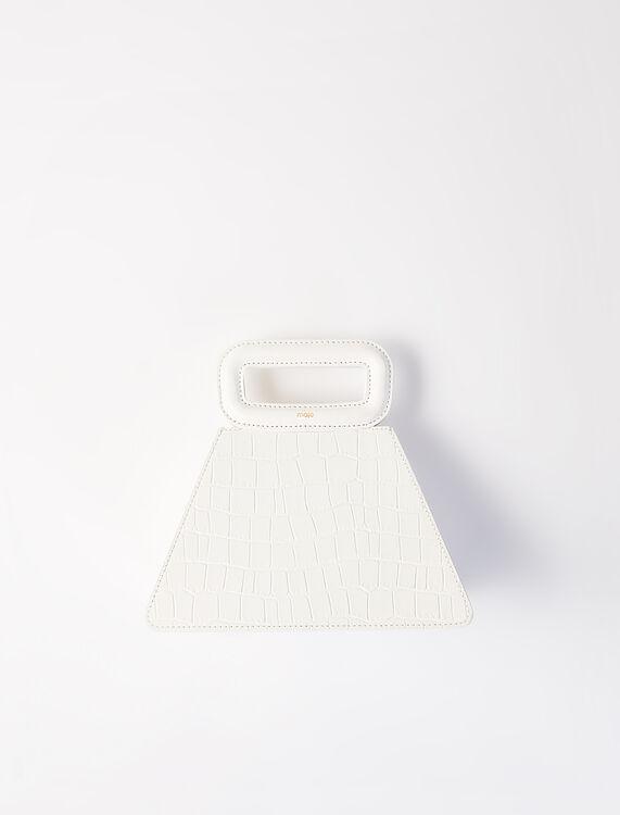 Maje Pyramid Bag with Embossed Leather Handle Ecru(圖片來源:官網)