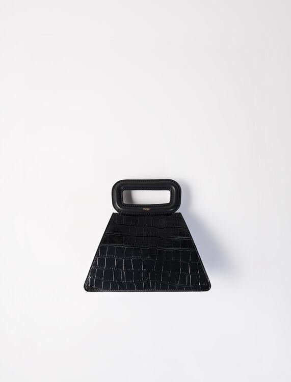 Maje Pyramid Bag with Embossed Leather Handle Black(圖片來源:官網)