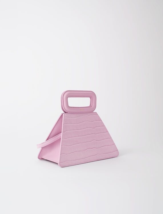 Maje Pyramid Bag with Embossed Leather Handle Sugared Pink(圖片來源:官網)