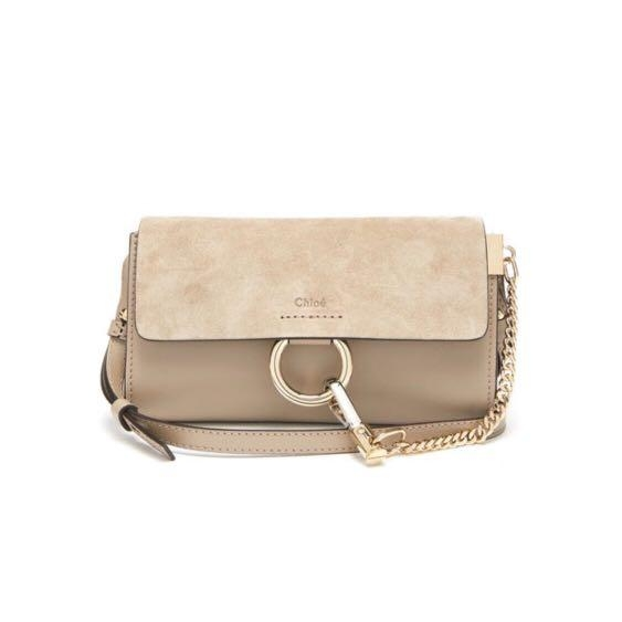 Faye mini leather and suede cross-body bag HK,265(圖片來源:matchesfashion)