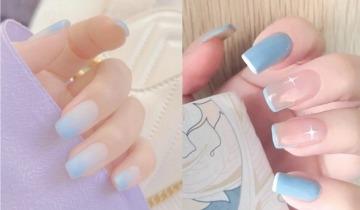 夏日法式Baby Blue美甲推介 10款淡雅造型、簡潔大方、超顯指長+顯白!