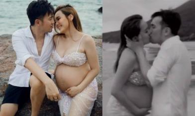 楊洛婷與老公Tim黃天翱慶祝相愛15年!挺9個月巨肚留倩影  濕身錫錫似拍MV