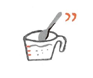 2. 先以牛奶攪拌調開乳清蛋白。(圖片來源:采實文化)