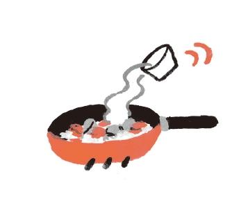 3. 所有食材的表面都均勻沾到油之後, 倒入高湯,煮到所有食材變軟為止。(圖片來源:采實文化)