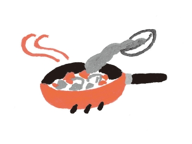 5. 關火,調入綜合味噌,倒入步驟❷的食材以小火加熱。(圖片來源:采實文化)