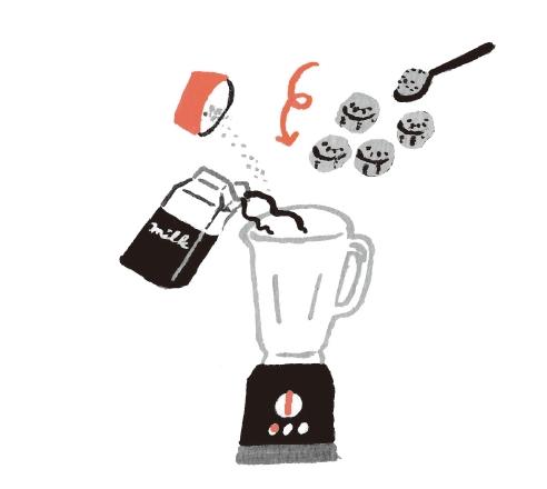 將所有材料倒入果汁機,攪拌至質感綿滑為止(約1分鐘)。 (圖片來源:采實文化)